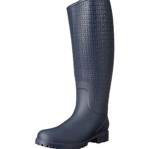 A pair of intact rain boots